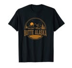 Vintage Butte, Alaska Mountain Hiking Souvenir Print Unisex T-Shirt