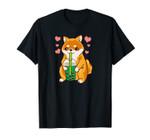 Funny Corgi Bubble Tea Kawaii Corgi Unisex T-Shirt