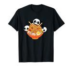 Kawaii Anime Pandas Eating Japanese Ramen Noodles Unisex T-Shirt