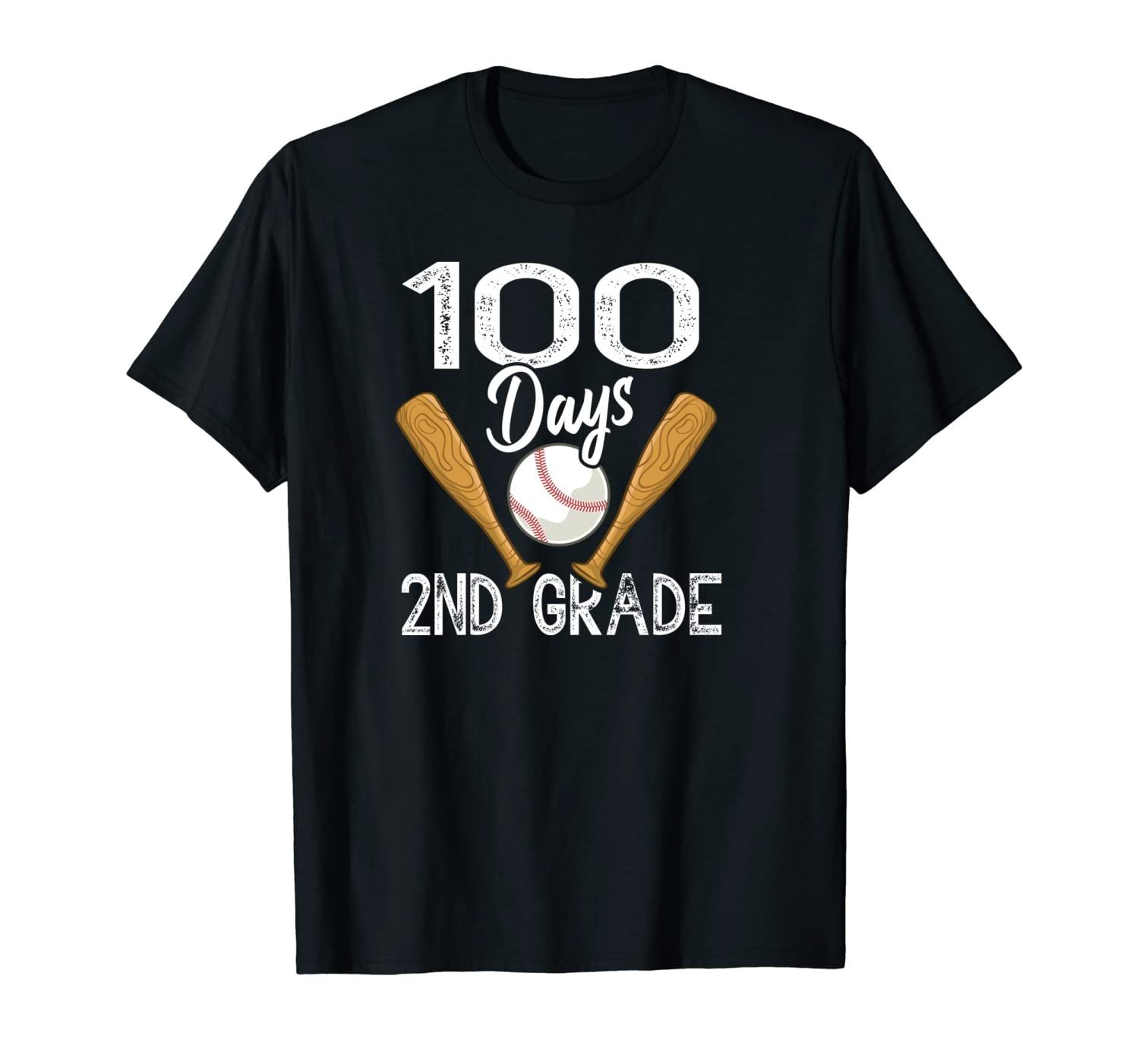 100 Days 2nd Grade School Baseball Bat Sport Teacher Student Unisex T-Shirt