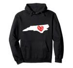 Love North Carolina Heart Hoodie, T-Shirt, Sweatshirt