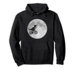 Dinosaur bike and moon pullover hoodies funny retro style, T-Shirt, Sweatshirt