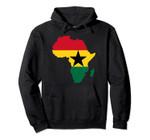 Ghanaian pride I love Ghana flag Africa map t-shirt hoodie, T-Shirt, Sweatshirt