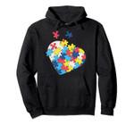 Love Autism Awareness Puzzle Pieces Gift Design Idea Pullover Hoodie, T-Shirt, Sweatshirt