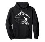 Single Track Downhill Biker Gift Hoodie | Mountain Biking Pullover Hoodie, T-Shirt, Sweatshirt