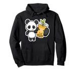 Panda Bear Bubble Boba Tea Woke Kawaii Anime Chinese Zodiac Pullover Hoodie, T-Shirt, Sweatshirt