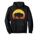 Retro Eighties Bison Hoodie, Vintage American Buffalo Gift, T-Shirt, Sweatshirt