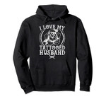 I Love My Tattooed Husband Black Tribal Tattoo Gun Gift Pullover Hoodie, T-Shirt, Sweatshirt