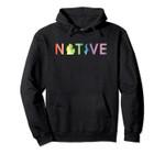 Native Michigander Mitten State Rainbow Watercolor Pullover Hoodie, T-Shirt, Sweatshirt