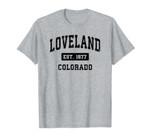 Loveland Colorado Classic Established Classic 1877 Unisex T-Shirt for Men and Women