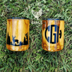 Felacia Bow Hunting Wood Grain Tumbler
