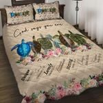 Felacia [Quilts Bedding Set] God says you are Turtle AH0121