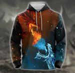 Felacia Ice and fire dragon 3D All Over Printed Shirts IAL022