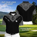 Felacia Personalized Black Polo T-Shirt TO25