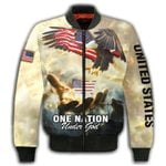 Felacia One Nation Under God 3D All Over Printed Clothes AHCCL29