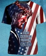 Felacia One Nation Under God 3D All Over Printed Clothes AHCCL15