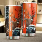 Felacia [Tumbler]  Deer Hunting Custom name Cup Personalized Hunting gift for adult and kid - IPH1558C3716