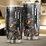 Felacia [Tumbler] Custom Largemouth Bass Fishing American Flag muddy camo Stainless steel beer, coffee - adults and kids - IPH2217C3906