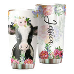 Felacia [Tumbler] Personalized name drinkware family gift ideas for family friends - Cow Flower TY0702217 C3031