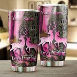 Felacia [Tumbler]  Love Deer Hunting Pink Muddy girl Camo Customize name Cup - Personalized hunting gift for hunters - NQSD170C3863