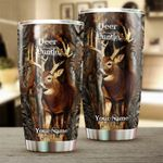 Felacia [Tumbler]  Deer Hunting camouflage Customize name Cup - Personalized hunting gift for hunters - NQSD40C3710