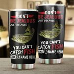 Felacia [Tumbler] Smallmouth Bass Fishing Customize name Cup Personalized Fishing gift for fisherman - IPH1145C3681