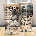 Felacia [Tumbler]  Wolf Daughter To Dad Fathers Day GiftC3459