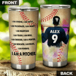 Felacia [Tumbler] Custom Personalized name drinkware family gift ideas for family friends baseball lovers - I�m A Pitcher TY06022126 C3071