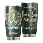 Felacia [Tumbler] Personalized name drinkware family gift ideas for family friends - Peace, Love And Light TY17022116 C3049
