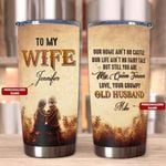 Felacia [Tumbler] Gift For Wife - My Queen Forever - - Personalized Name - Birthday gift, Christmas gift for wife, Best gift for your wife.C0692