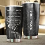 Felacia [Tumbler] Letter to my son from mom Deer Hunting games hunter Customize name  Cup - Personalized hunting gift for son - NQSD11C3907
