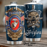Felacia [Tumbler] Gift For Veteran Lover Gift For Army Marine Corps US Veteran Personalized CHC2873