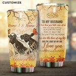 Felacia [Tumbler] To My Husband Cow Couple Personalized Name n Date For FarmerC2972