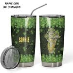 Felacia [Tumbler] St Patrick Celtic Cross Custom Name Design Insulated Vacuum C4711