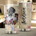 Felacia [Tumbler] Custom Personalized name drinkware family gift ideas for friend couple dog lovers - Dog & Book TY0402218 C3068