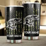 Felacia [Tumbler] Musky (Muskie) Fishing US Flag Camo Patriot Customize name Cup Personalized Fishing gift for fisherman - IPH1273C3832