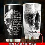 Felacia [Tumbler] Personalized Always Remember You Are Braver Than You Think Skull Marble For Skull LoversC0953