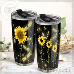 Felacia [Tumbler] You Never Walk Alone, Dragonfly Sunflower C0407