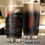 Felacia [Tumbler] Gift For Mom Personalized Football Mom to Son Mother Day GiftC2852