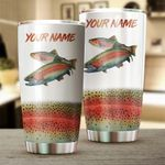 Felacia [Tumbler] Rainbow Trout Fishing Customize name Personalized Fishing gift for fisherman - IPH1062C3617