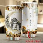 Felacia [Tumbler] Gift For Mom Dinosaur I Love You To The Moon And Back LHC2855