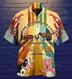 Felacia [Hawaii Shirt] A Pig A Chicken A Cow Walk In A Bar-B-Q-ZX3082