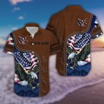 Felacia [Hawaii Shirt] Personalized Name Patriot Eagle Leather Pattern Unisex -ZX2574