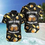 Felacia [Hawaii Shirt] Just A Girl Loves Beer Tropical Hawaiian Aloha Shirts-ZX2273