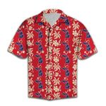 Felacia [Hawaii Shirt] Red Michigan Pattern -ZX1487