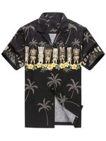 Felacia [Hawaii Shirt] Awesome Black Tiki-ZX0531