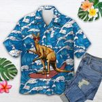 Felacia [Hawaii Shirt] Kangaroo Surfing Tropical Summer Unisex Hawaii Shirts -ZX3347