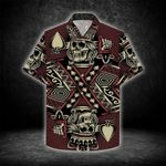 Felacia [Hawaii Shirt] Gamble Ace King Skull Poker Gothic -ZX2983