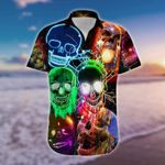 Felacia [Hawaii Shirt] Awesome Glowing Skull #2212H-ZX1209