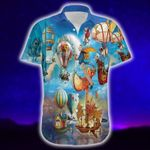 Felacia [Hawaii Shirt] Beautiful Sky With Hot Air Balloons Hawaiian Aloha Shirts-ZX2265